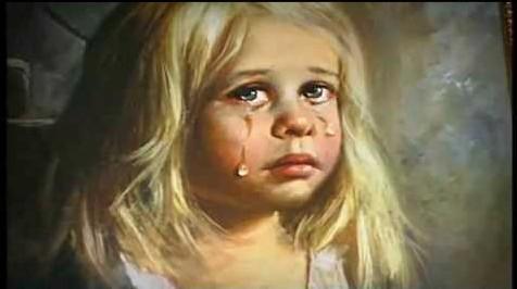 """Historia de los cuadros malditos de """"los niños llorones"""""""