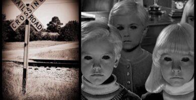 Leyenda De Niños Fantasmas De Texas Estados Unidos Vías Del Tren
