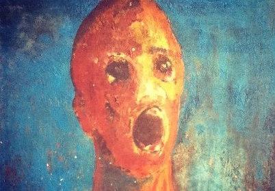 """La pintura embrujada del """"Hombre Angustiado"""""""