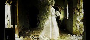 La novia vestida de blanco