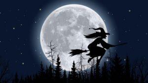 Blue Moon Luna Azul Halloween Noche De Brujas
